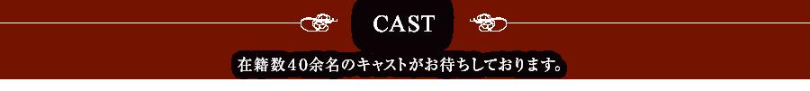 CAST 在籍数40余名のキャストがお待ちしております。